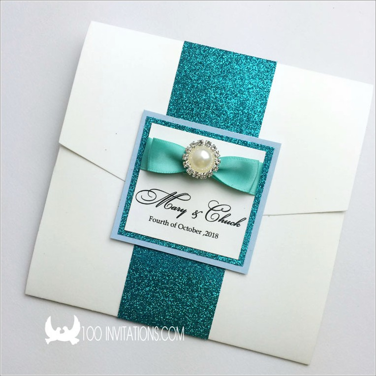 Peacock Wedding Invitations With Rsvp