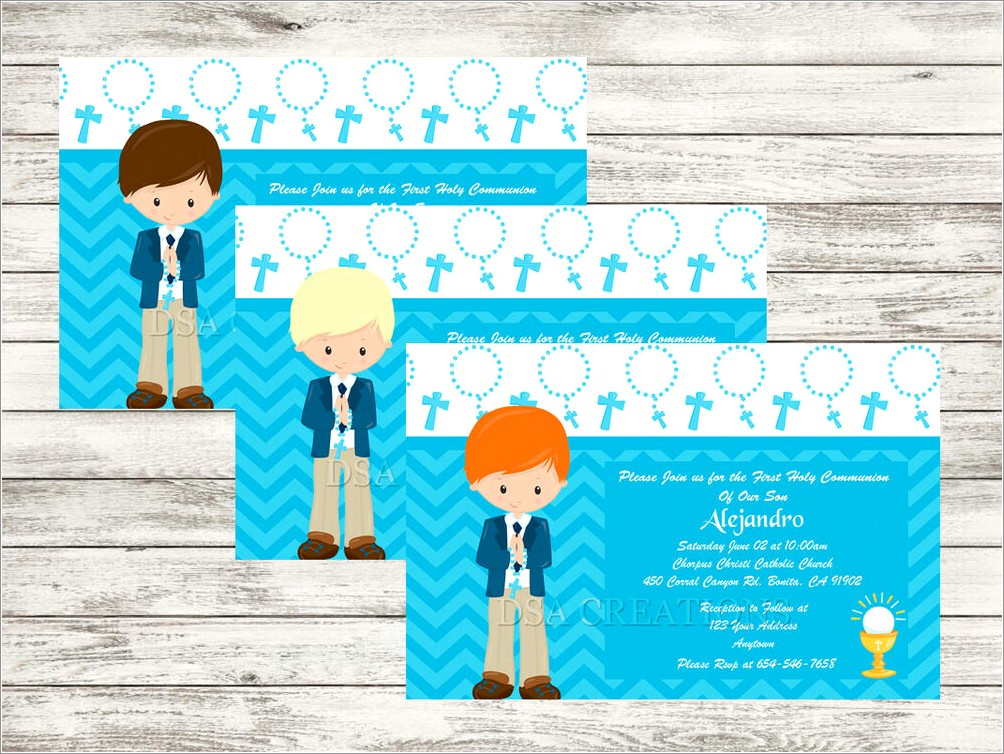 Personalized First Communion Invitations