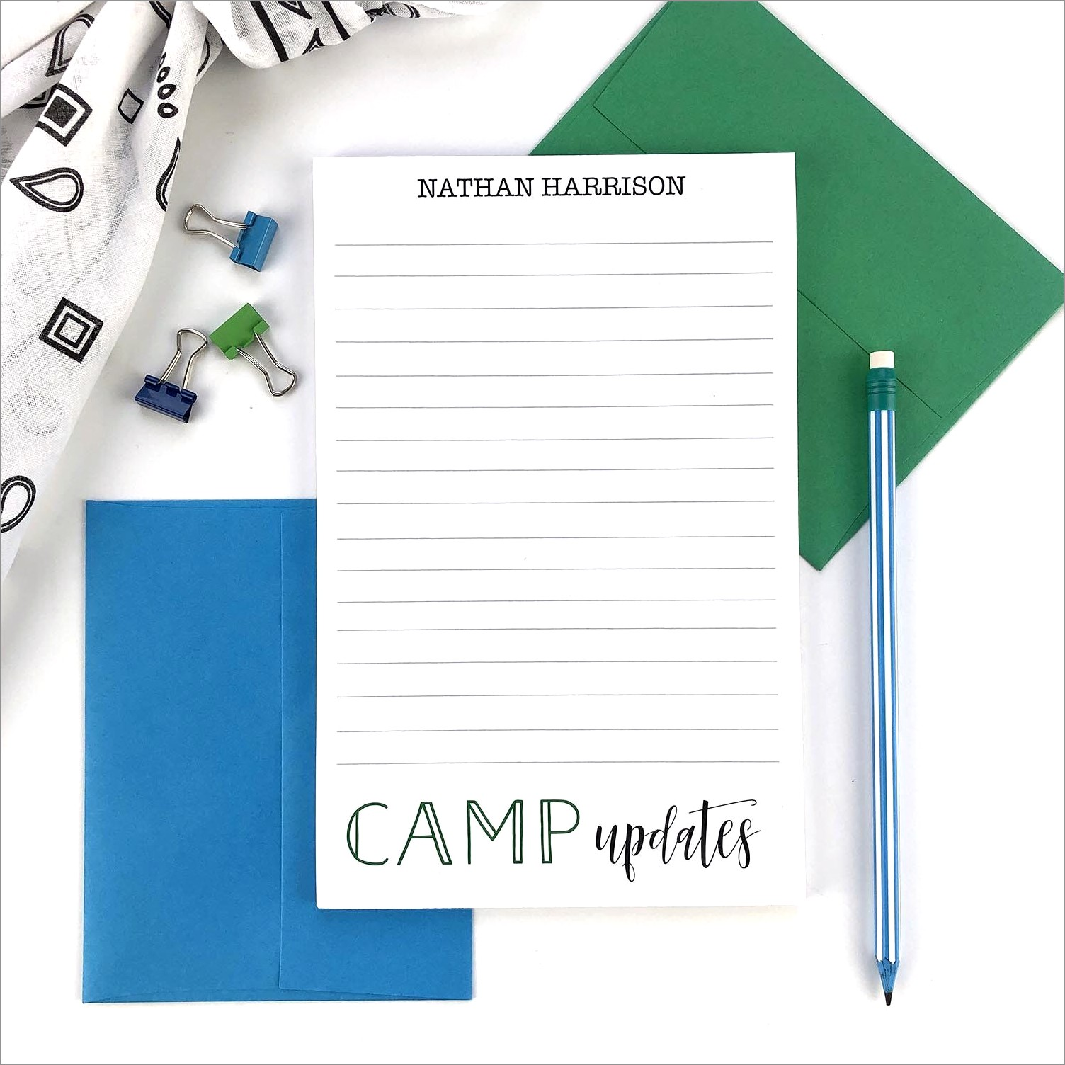 Personalized Stationery Letter Sheets
