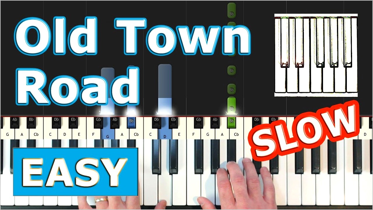 Piano Letter Notes Old Town Road