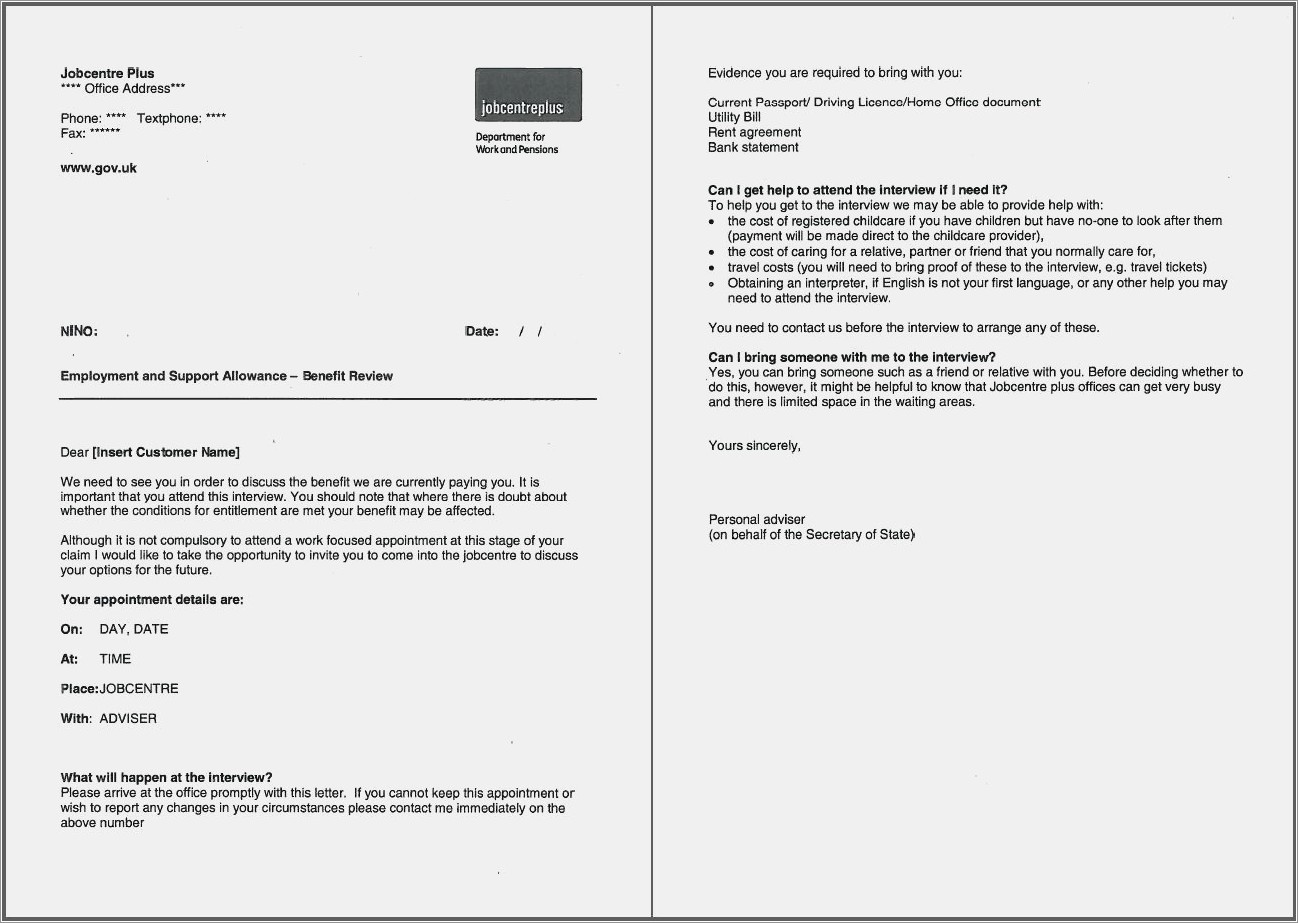 Pip Mandatory Reconsideration Letter Template