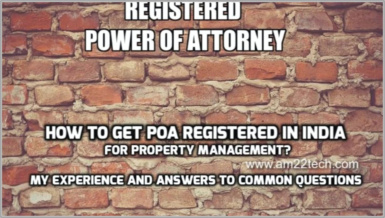 Power Of Attorney Example South Africa