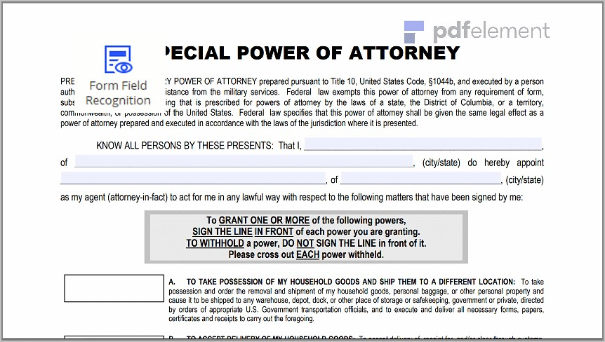 Power Of Attorney Form Download Free (27)