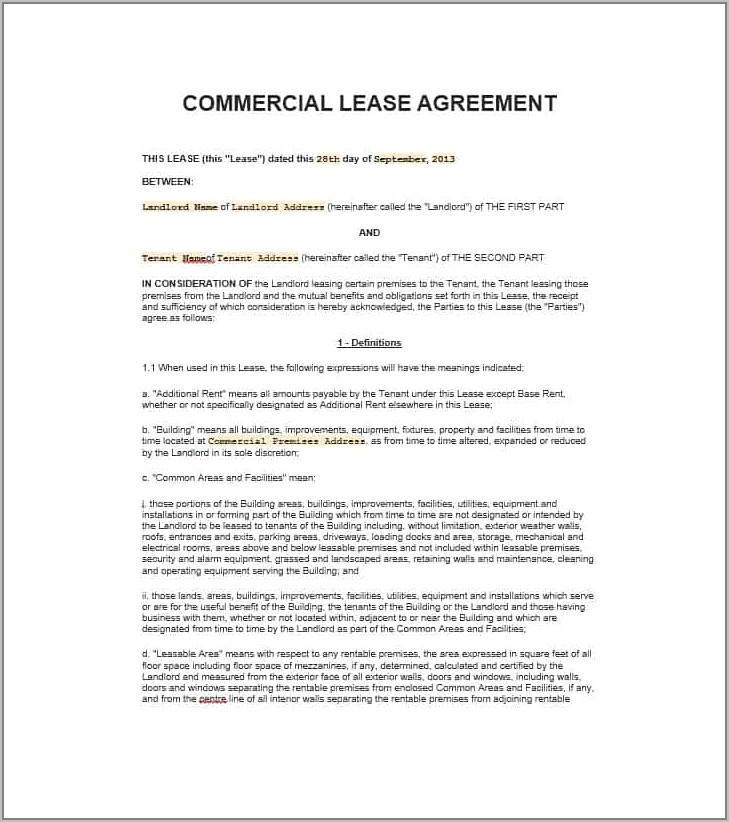 Private Property Lease Agreement South Africa