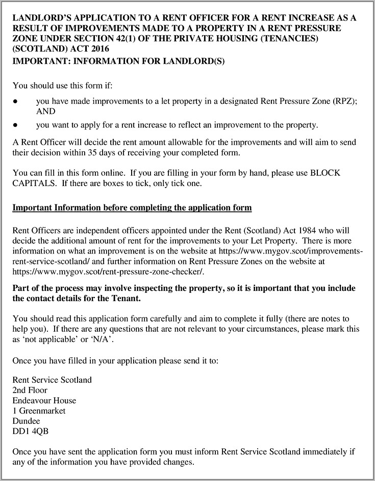 Private Residential Tenancy Agreement Template Scotland