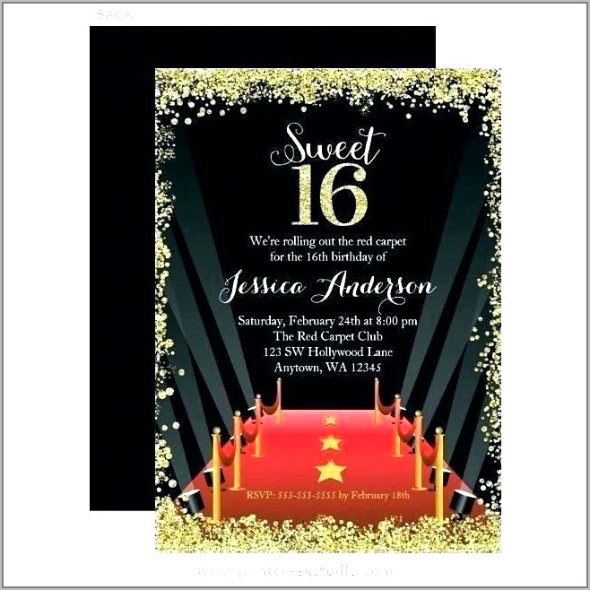 Prom Night Invitation Template