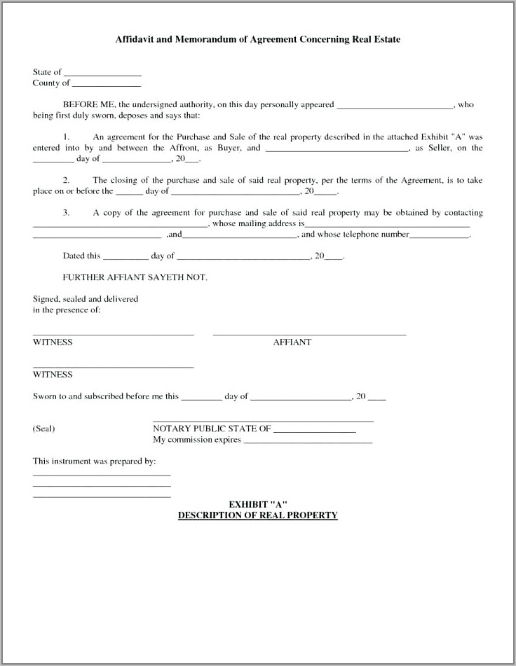 Property Sale Contract Example