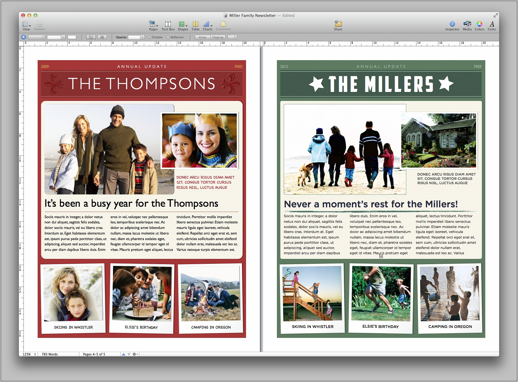 Publisher Christmas Newsletter Template Free