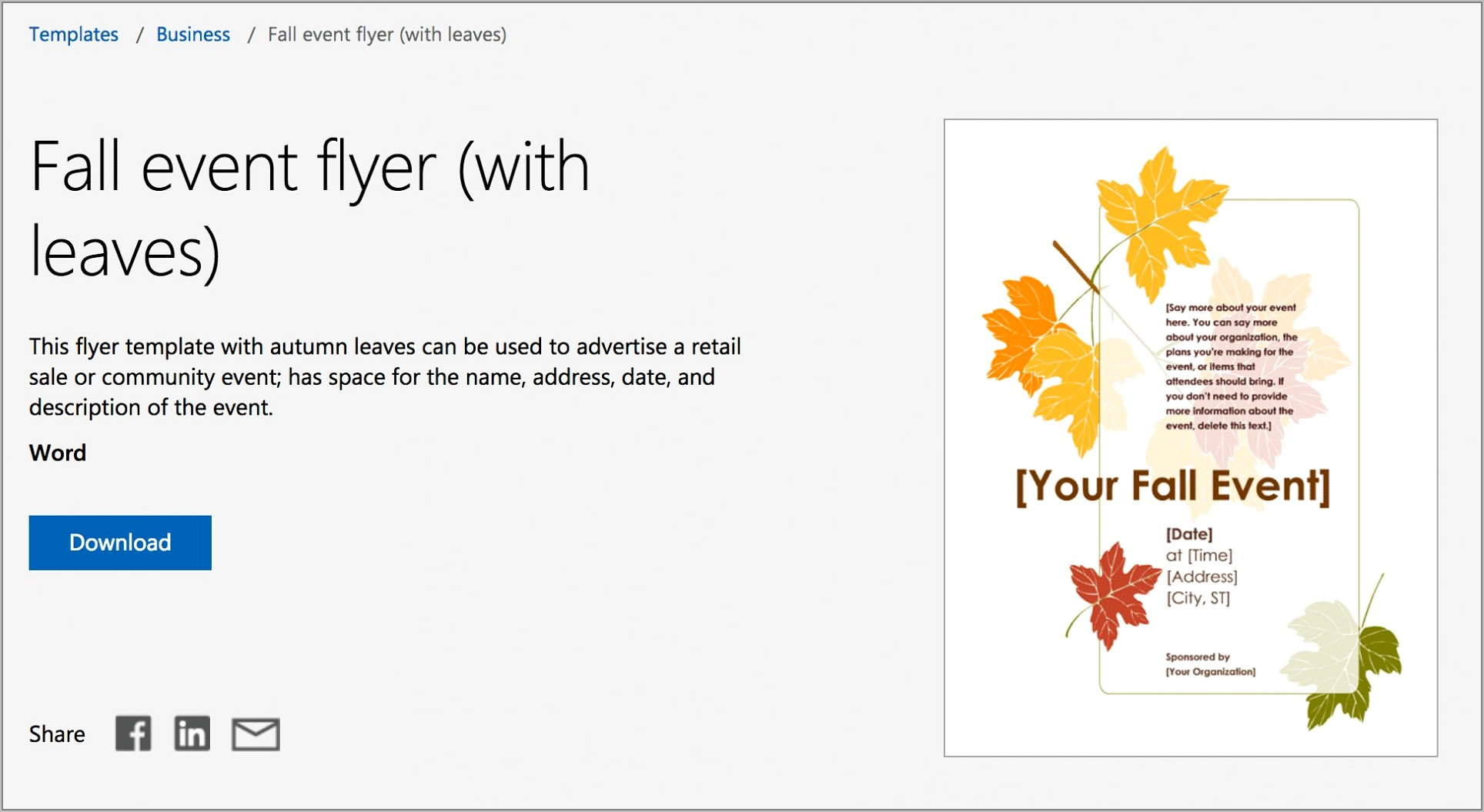 Publisher Flyers Templates Free Microsoft