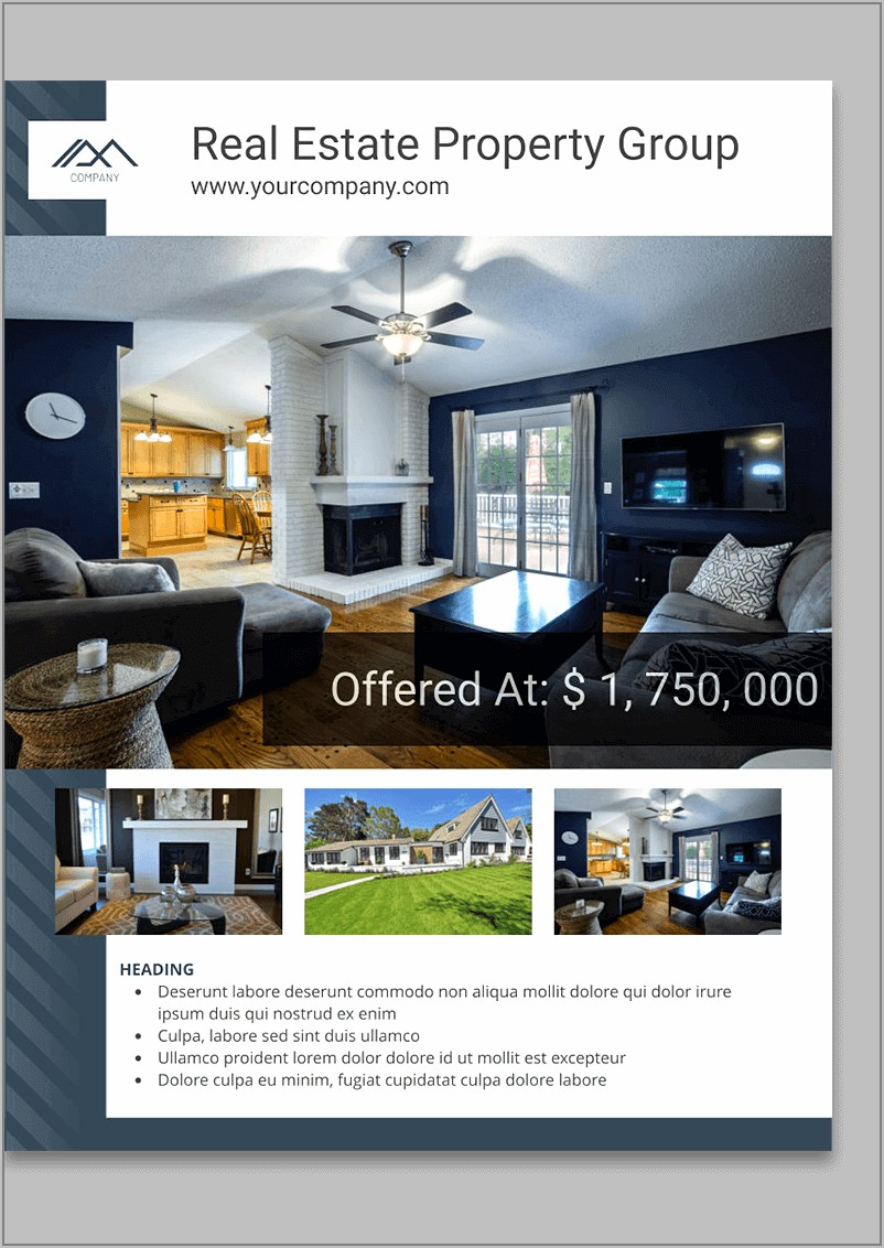Publisher Templates For Real Estate Flyers