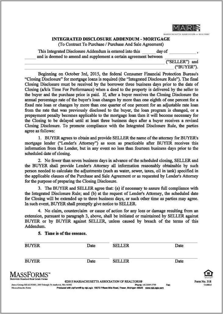 Purchase And Sales Agreement Form