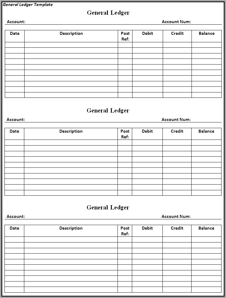 Purchase Ledger Template Free