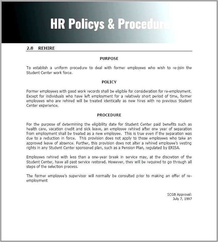 Purchasing Policy And Procedure Manual Template