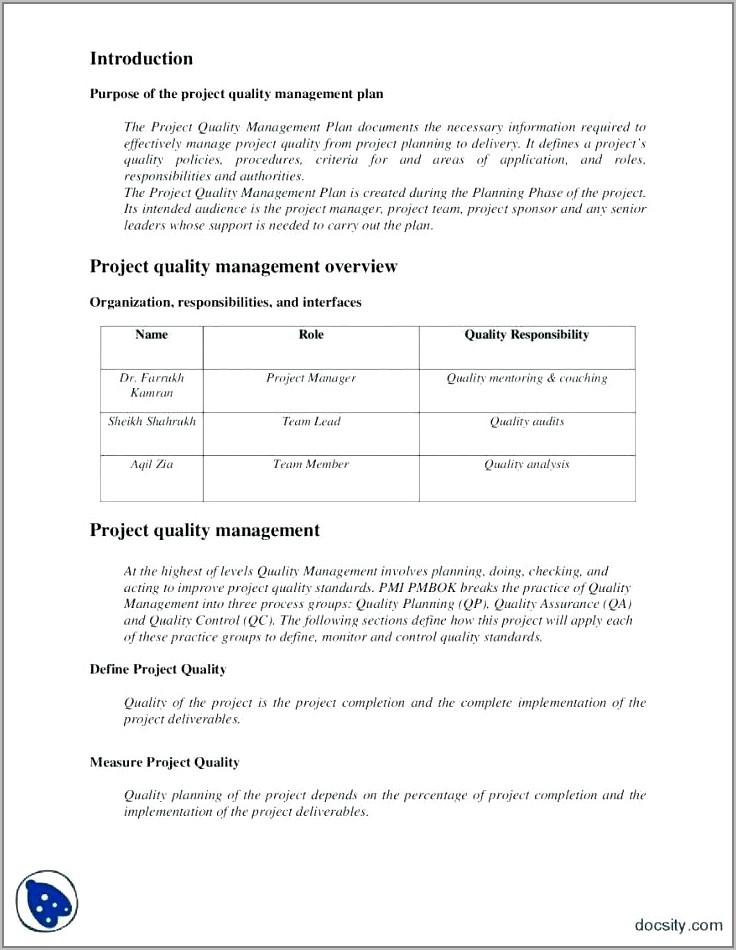 Quality Control Plan Template For Mortgage Brokers