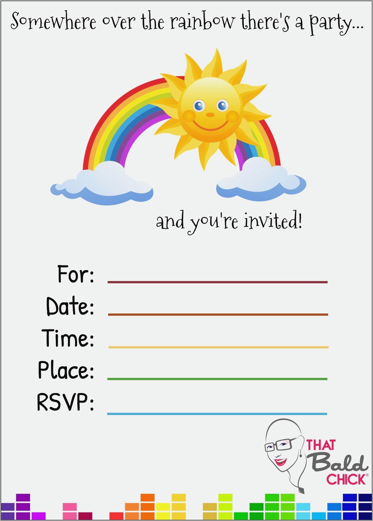 Rainbow Dash Invitations Free