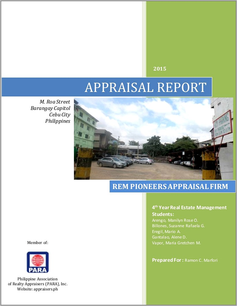 Real Estate Appraisal Form Types