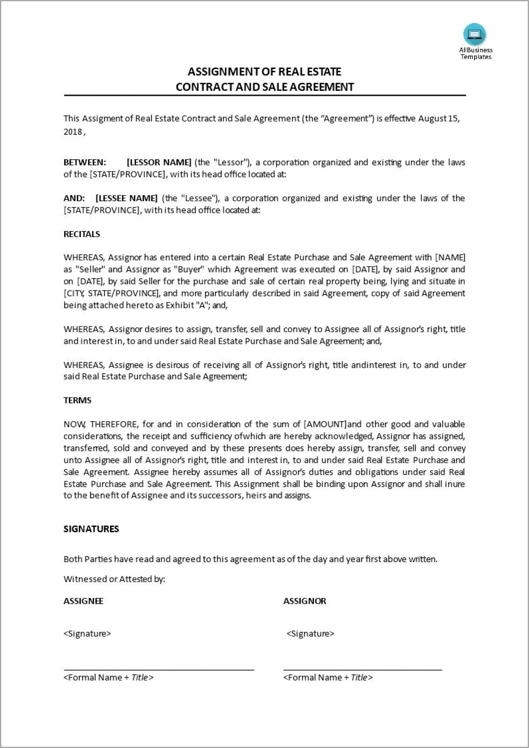 Real Estate Contract Forms Tennessee