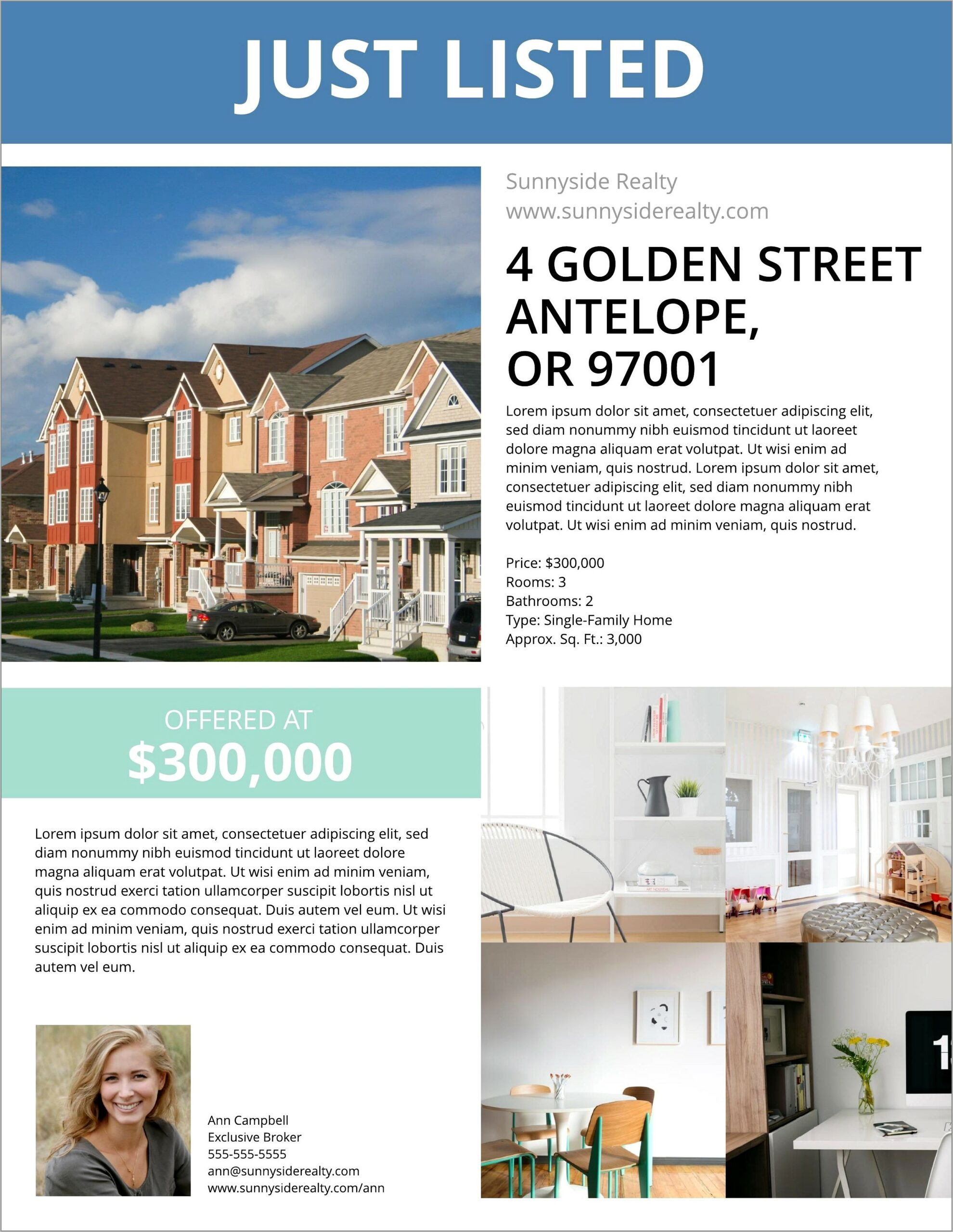 Real Estate Flyers Template Free