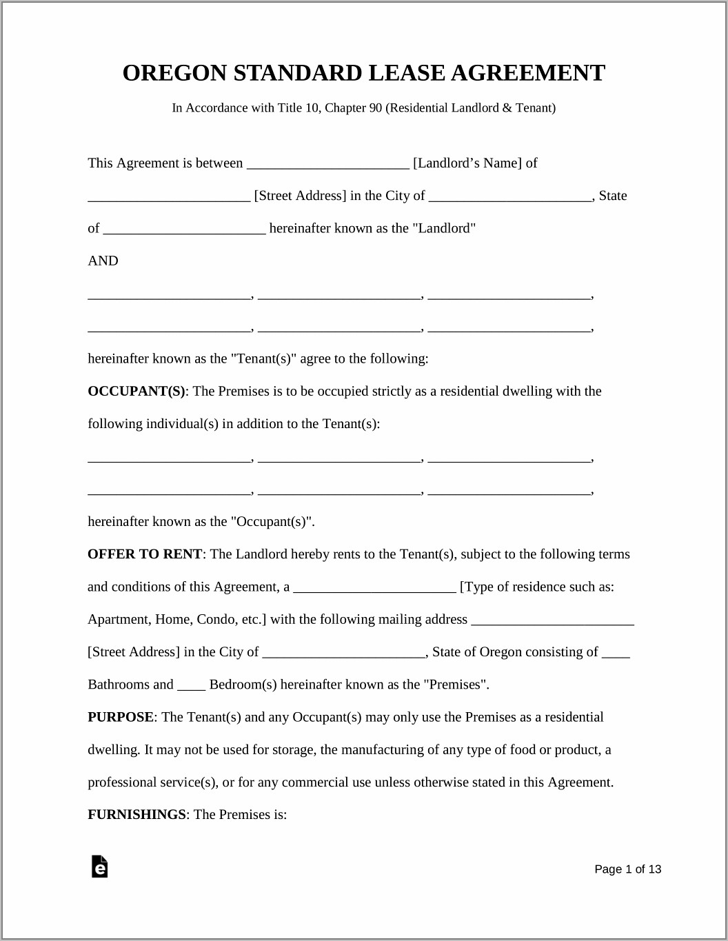 Real Estate Forms Lease Agreements