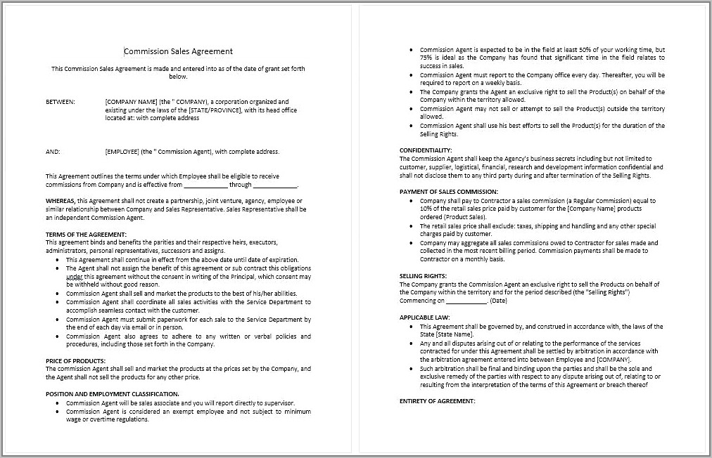 Recruitment Agency Employment Contract Template