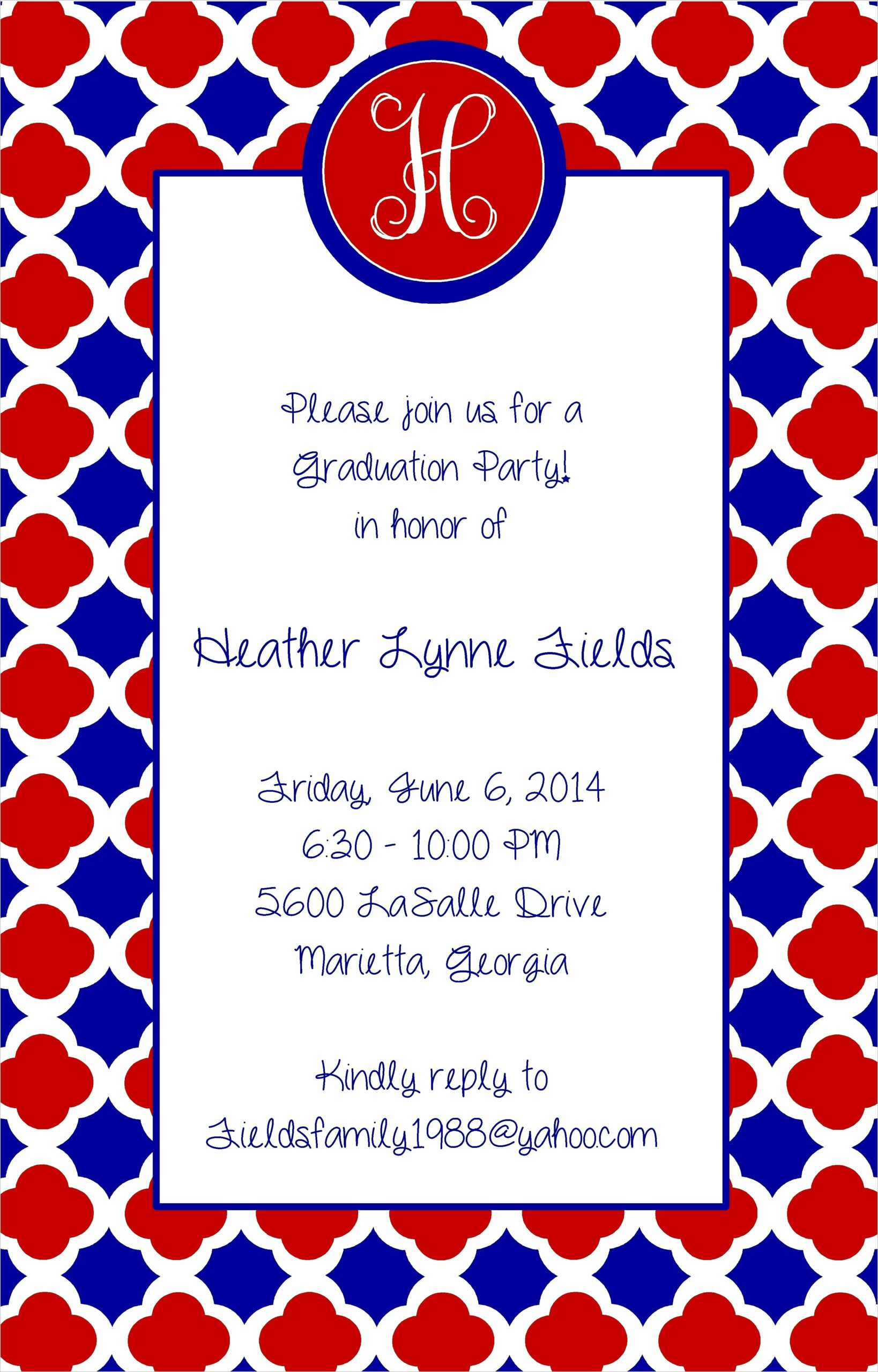 Red And White Graduation Invitations