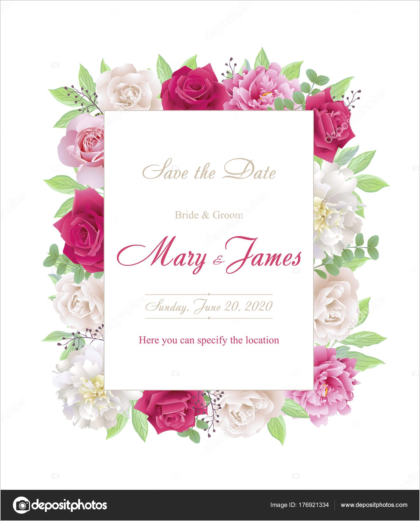 Red And White Wedding Invitation Cards