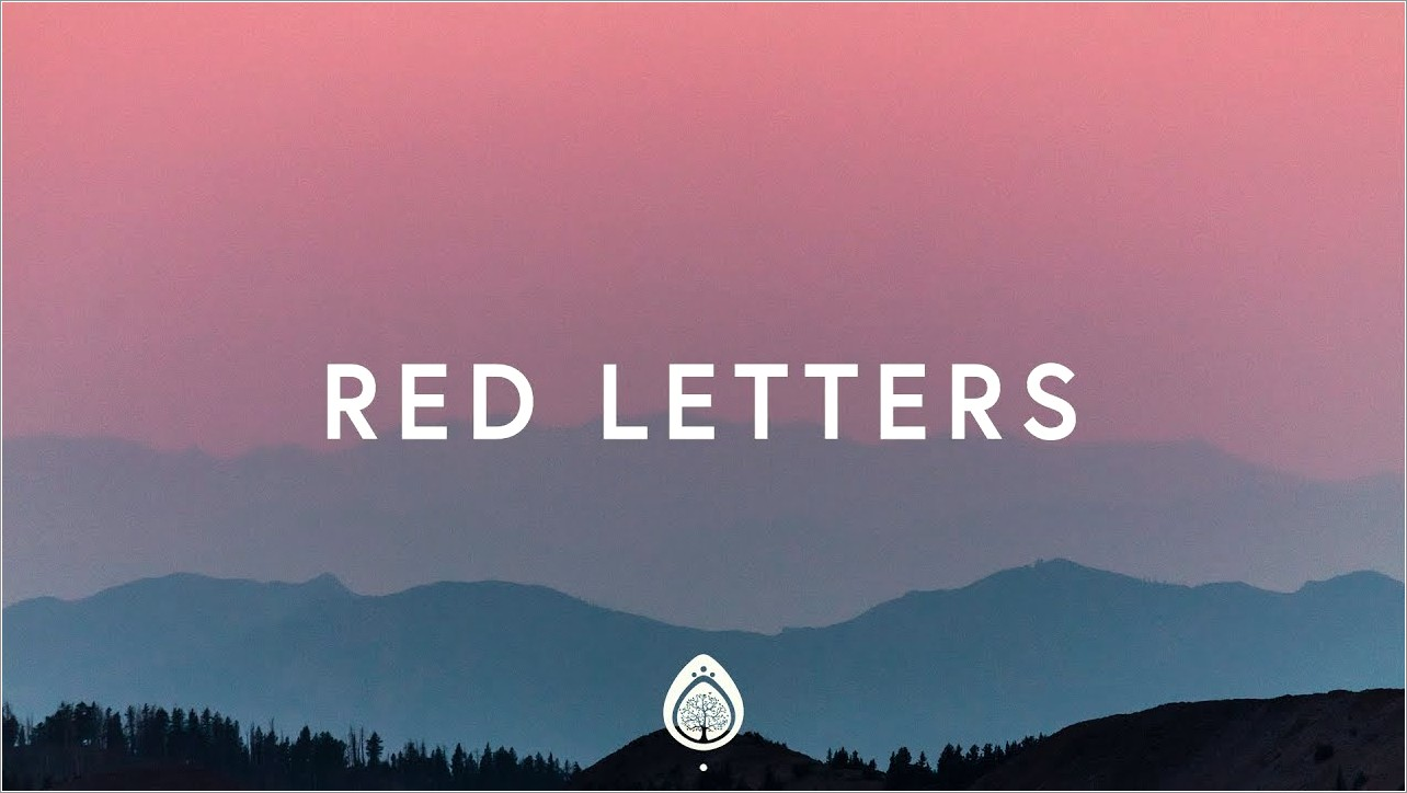 Red Letters By Crowder Meaning