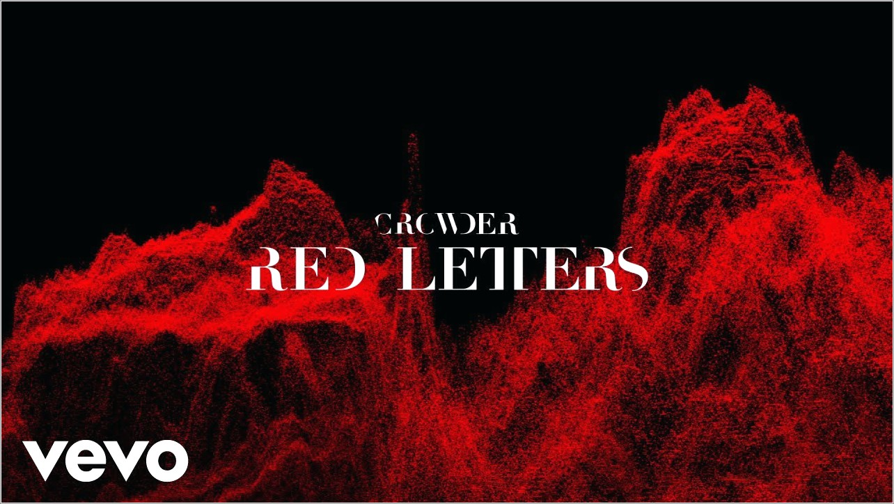 Red Letters By Crowder