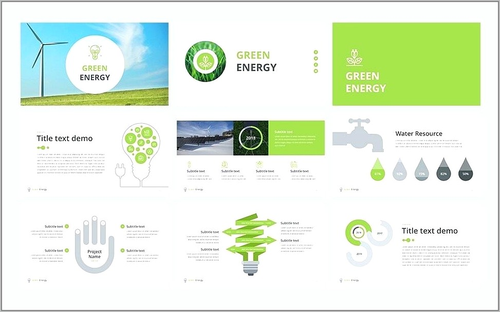 Renewable Energy Ppt Template Free Download