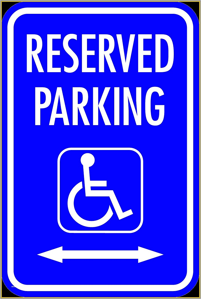Reserved Parking Signs Printable