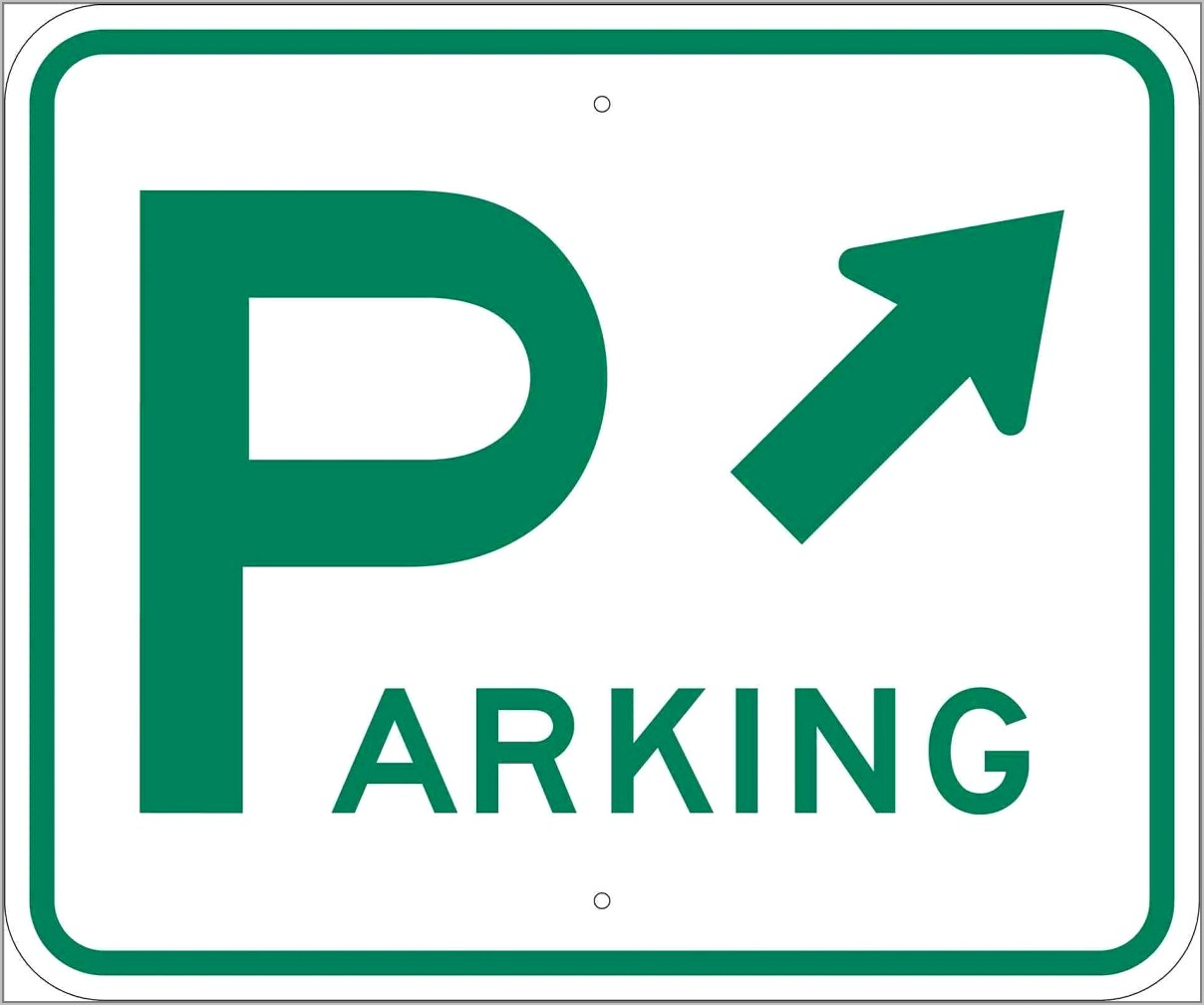 Reserved Parking Signs Template