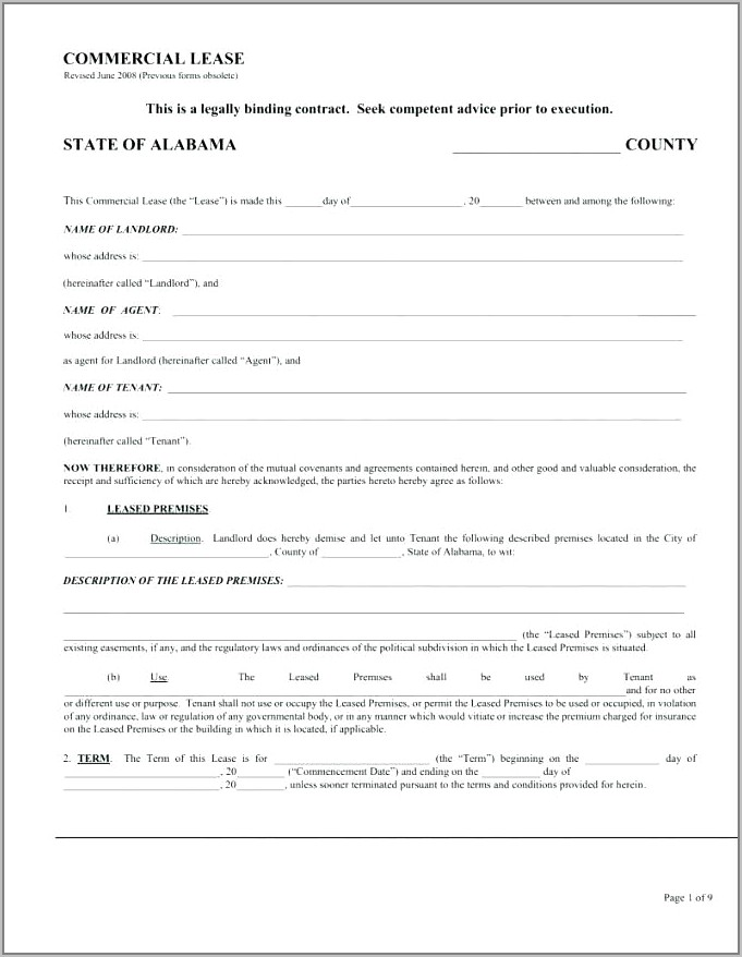 Residential Lease Agreement Template Victoria