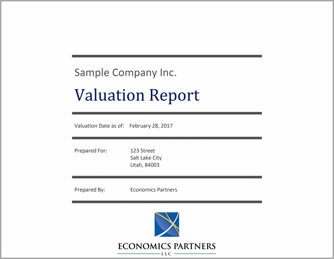 Residential Property Valuation Report Template
