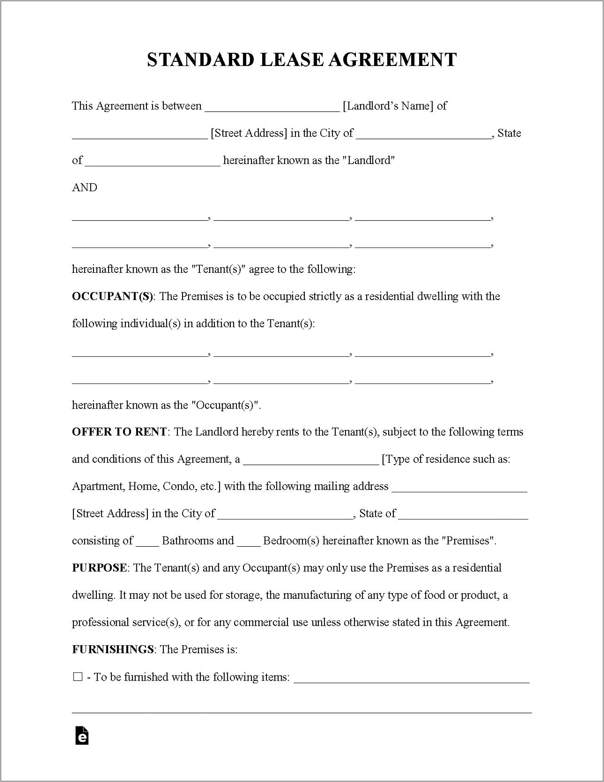 Residential Tenancy Agreement Template Malaysia