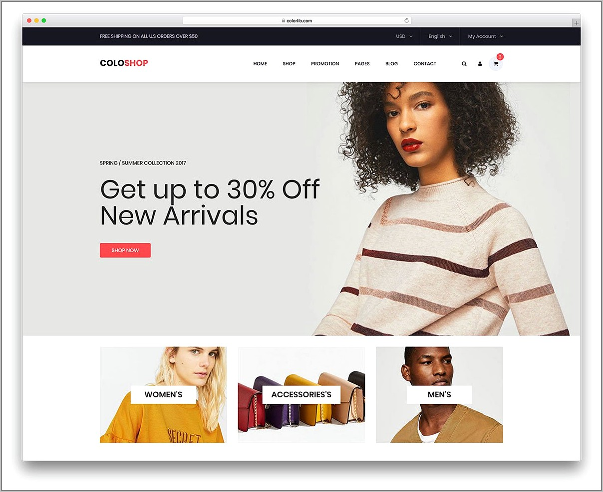 Responsive Bootstrap Ecommerce Template Free Download