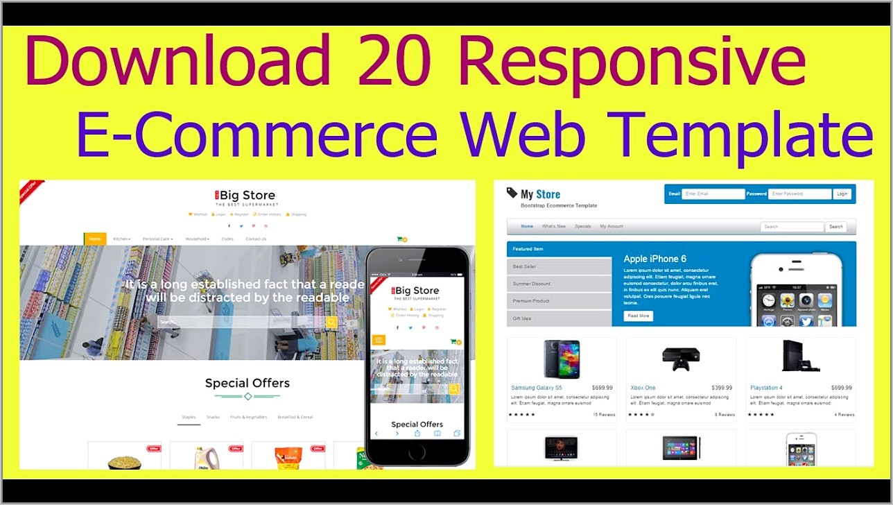 Responsive Bootstrap Ecommerce Templates Free Download