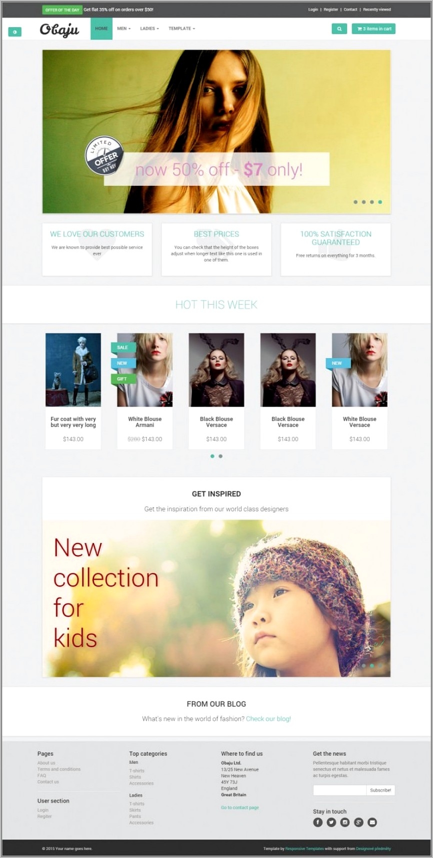 Responsive Ecommerce Template Bootstrap Free Download