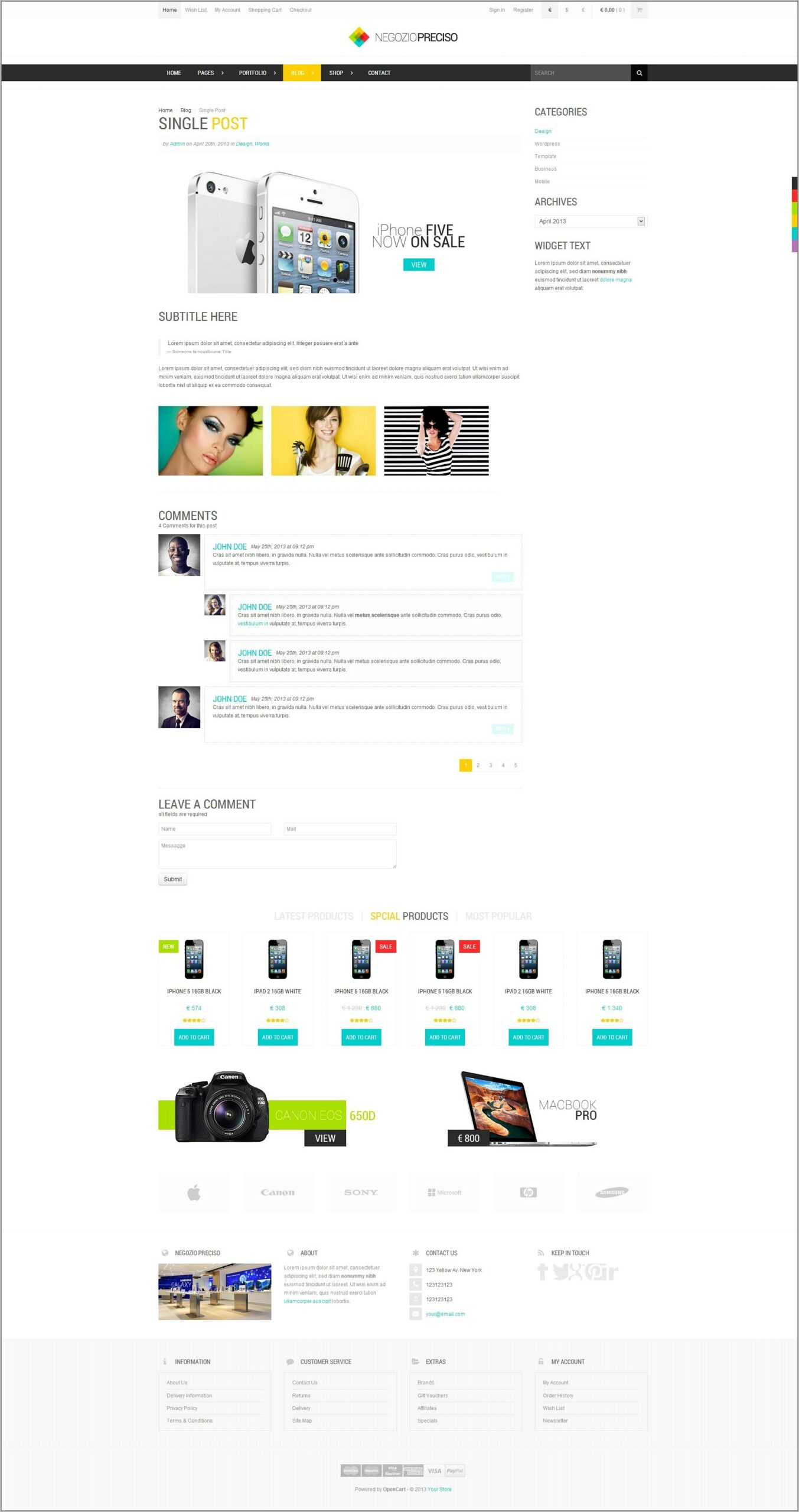 Responsive Ecommerce Template Bootstrap
