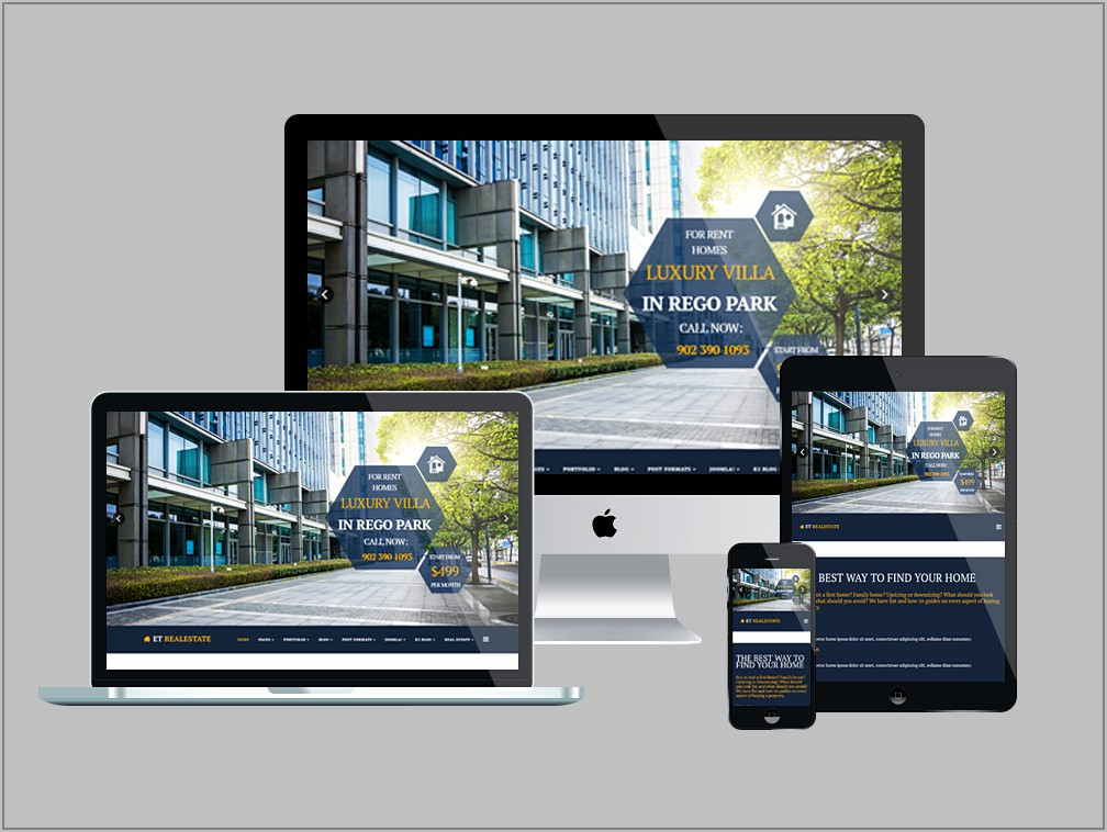 Responsive Real Estate Template Free