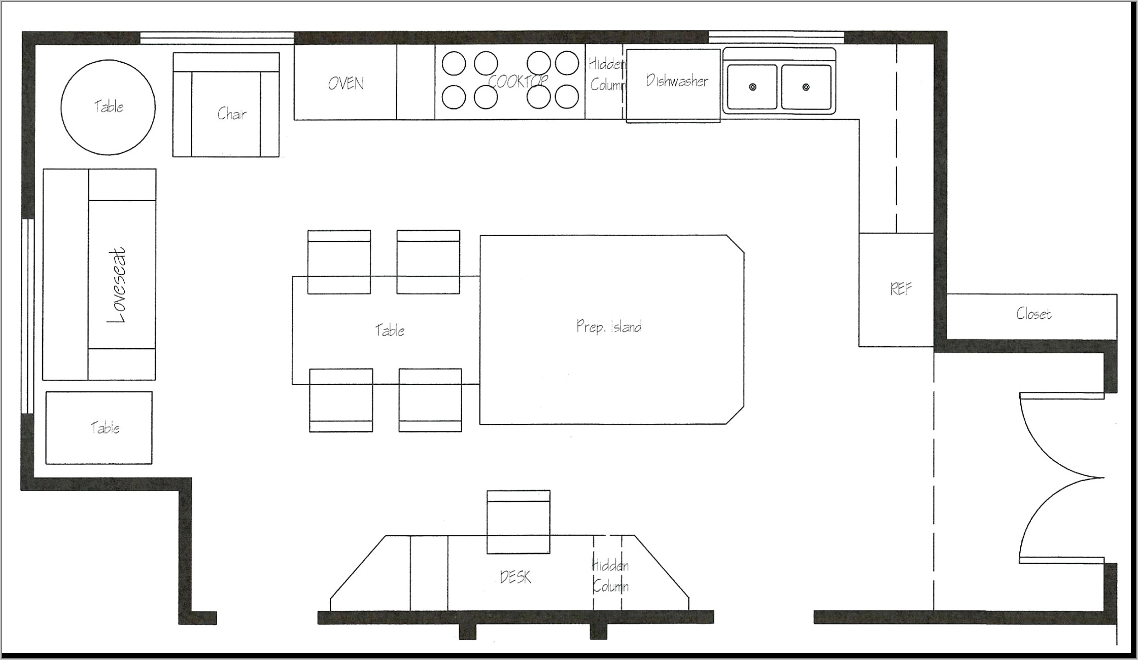 Restaurant Seating Layout Template