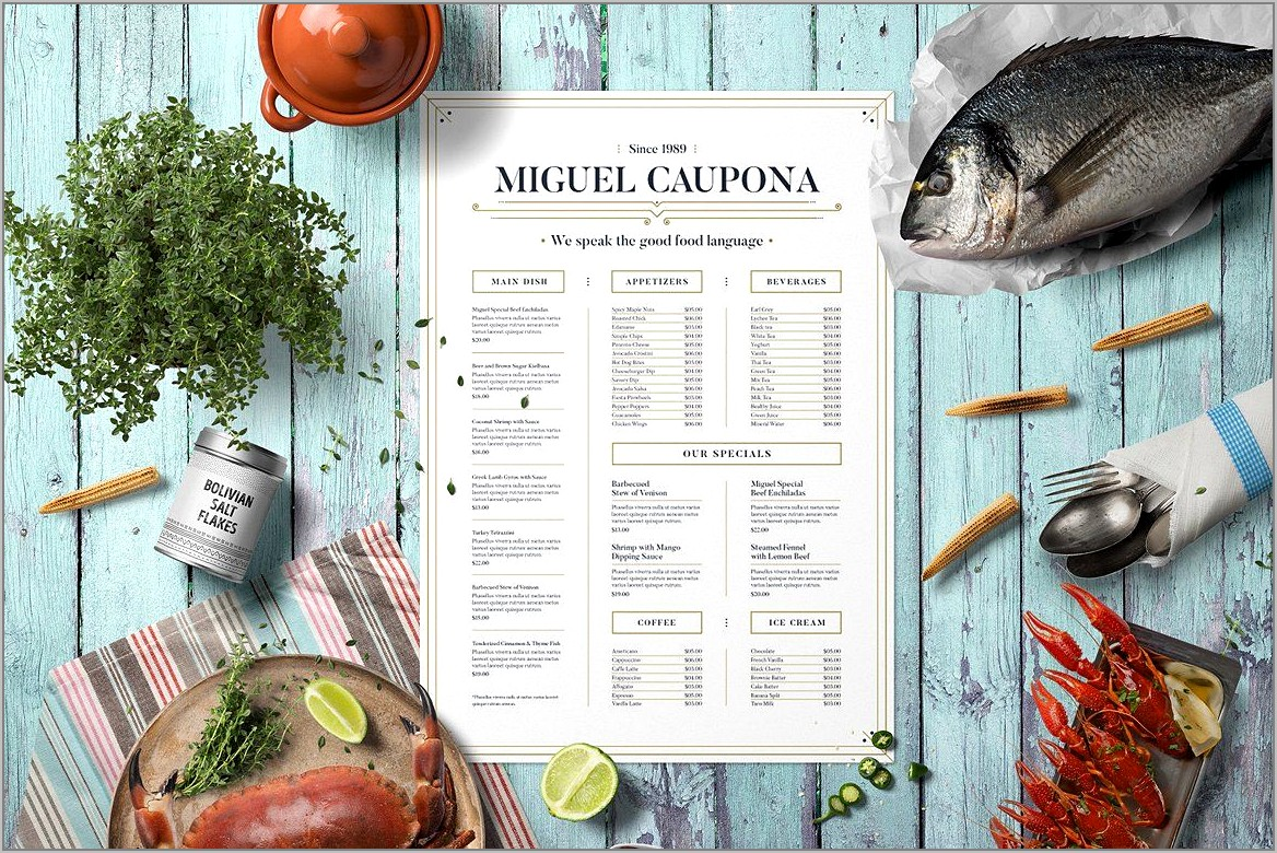 Restaurant Table Layout Template