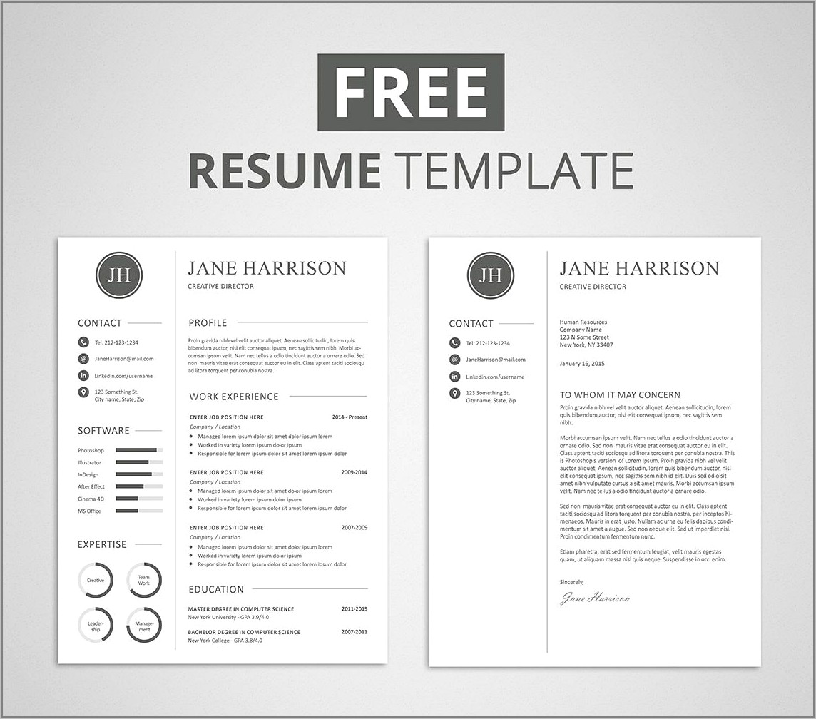 Resume Cover Letter Templates Free