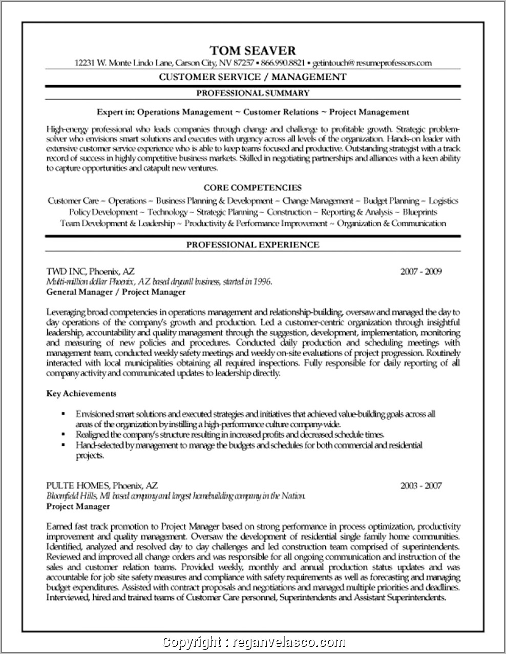 Resume Examples For Assistant Construction Project Manager