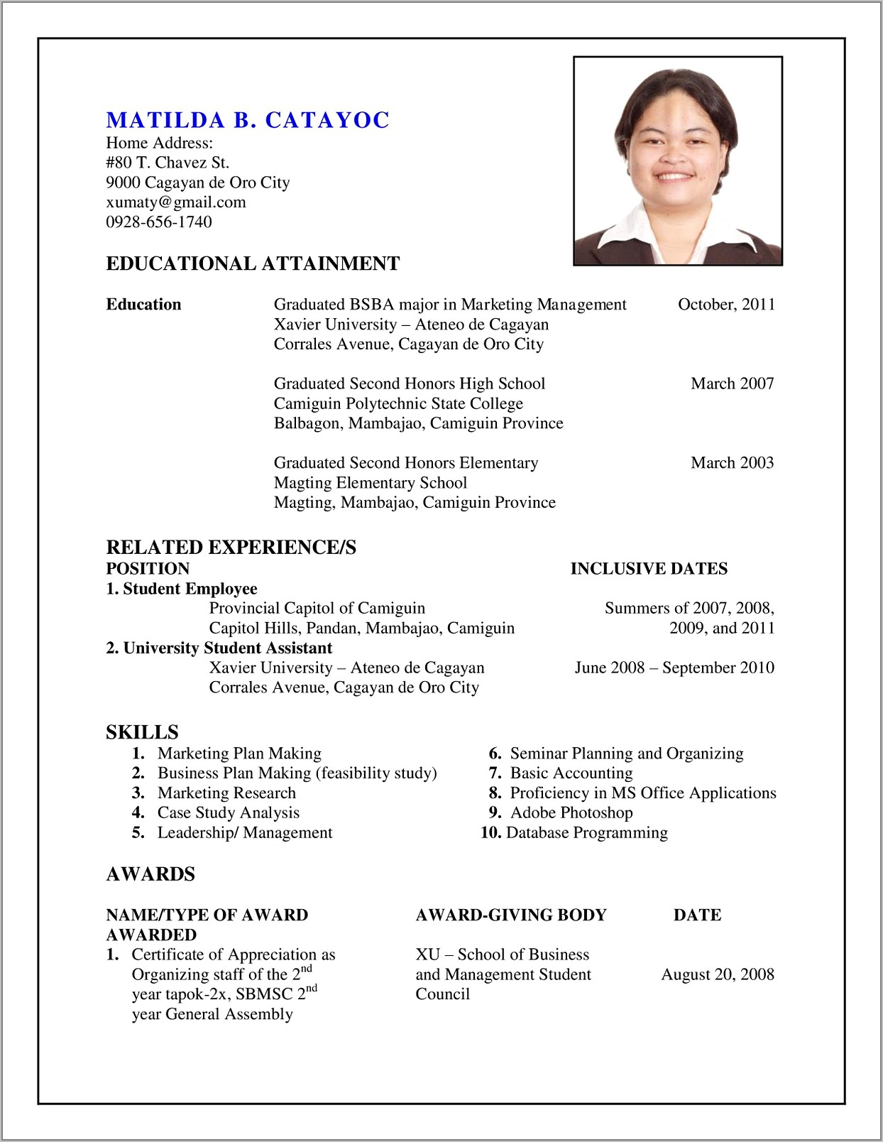 Resume Sample For A Teenager