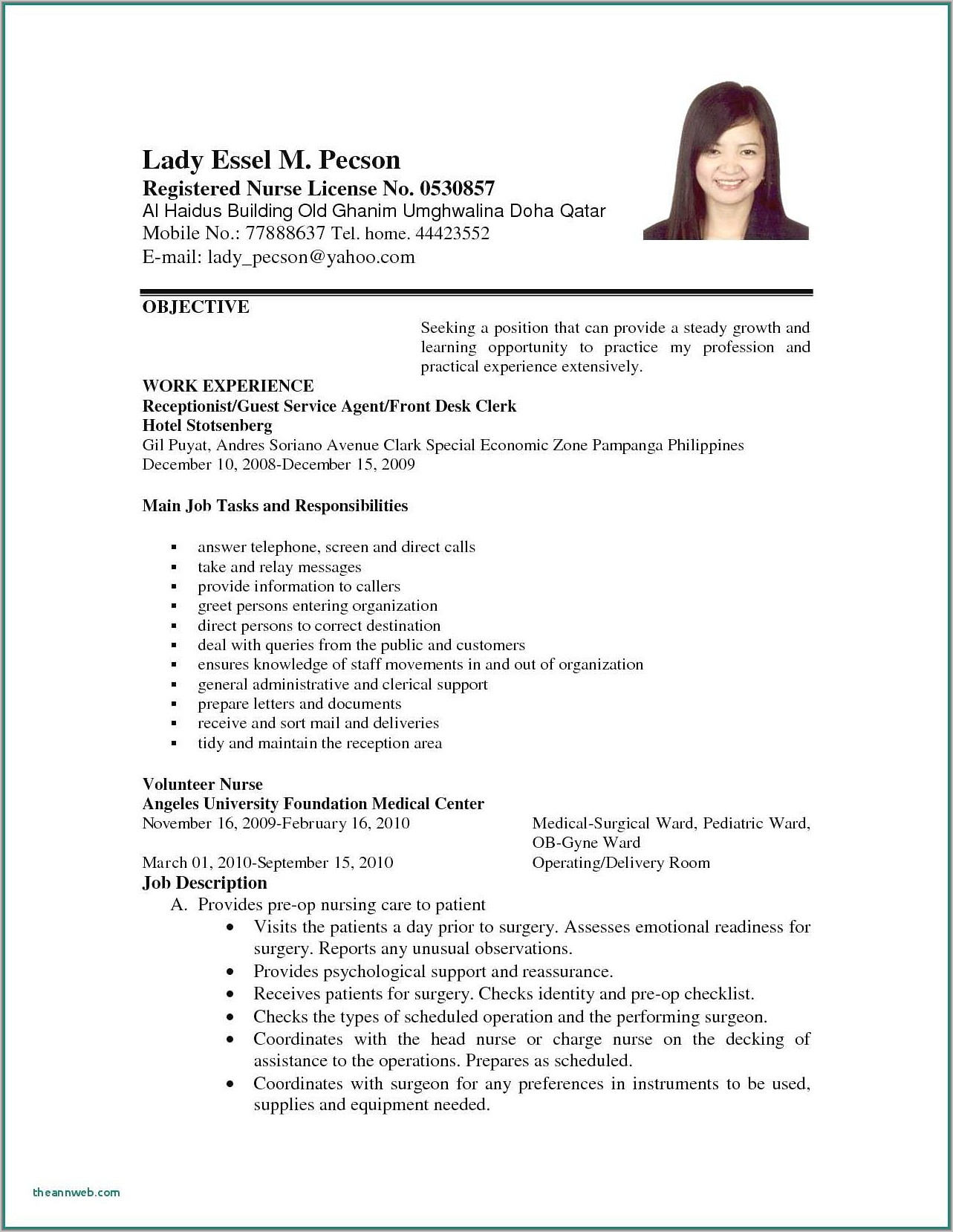 Resume Sample For First Time Job