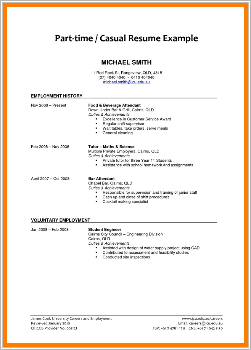 Resume Template For Wordpad Free