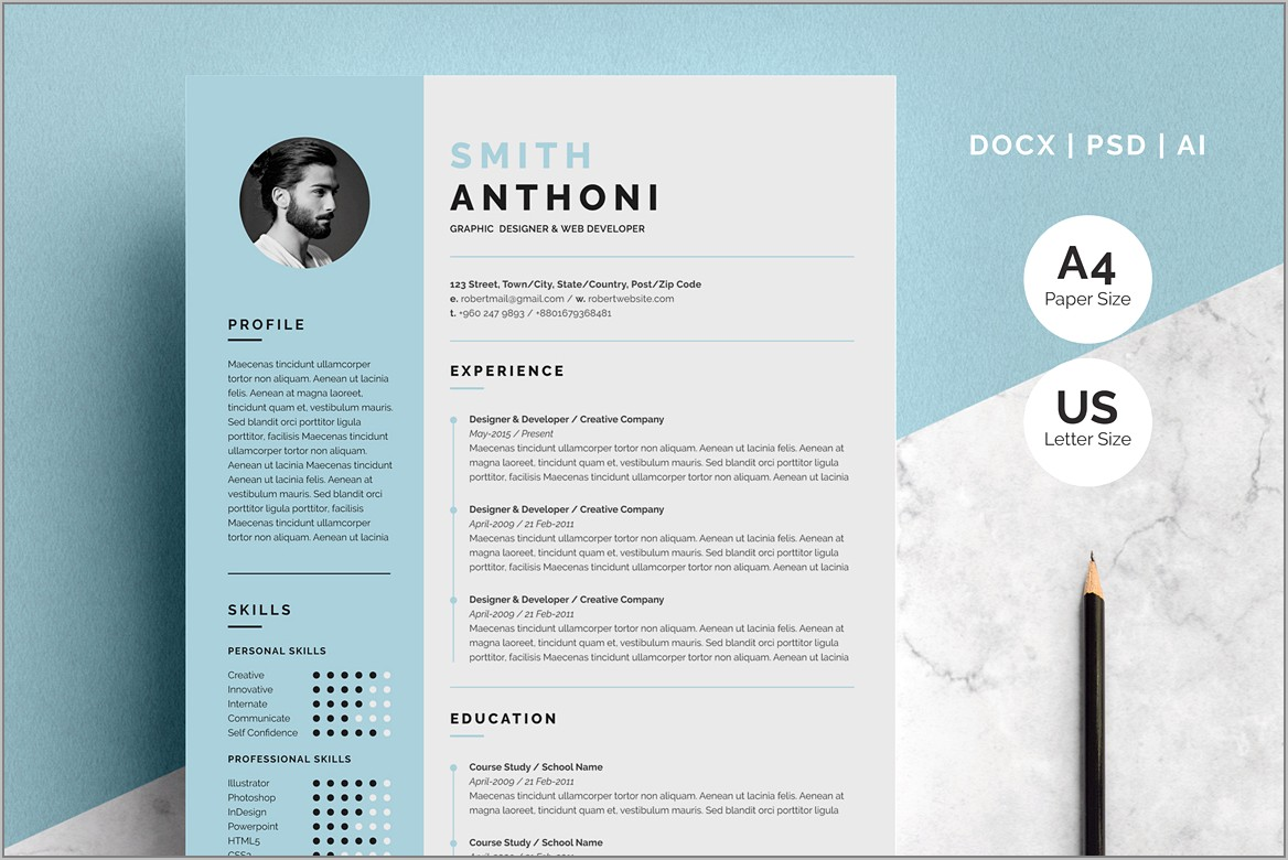 Resume Templates For Pages Mac Free