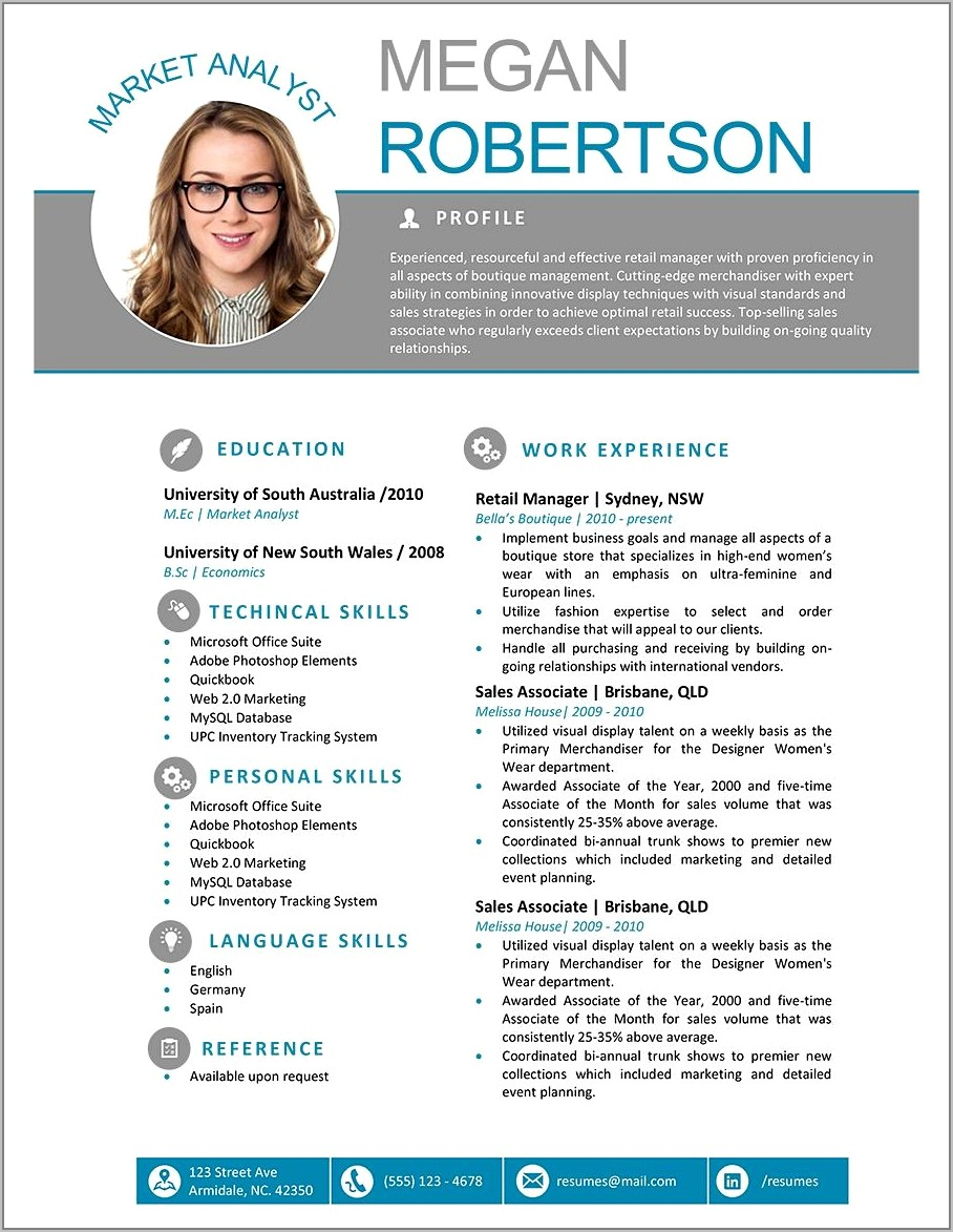 Resume Templates Ms Word Free Download
