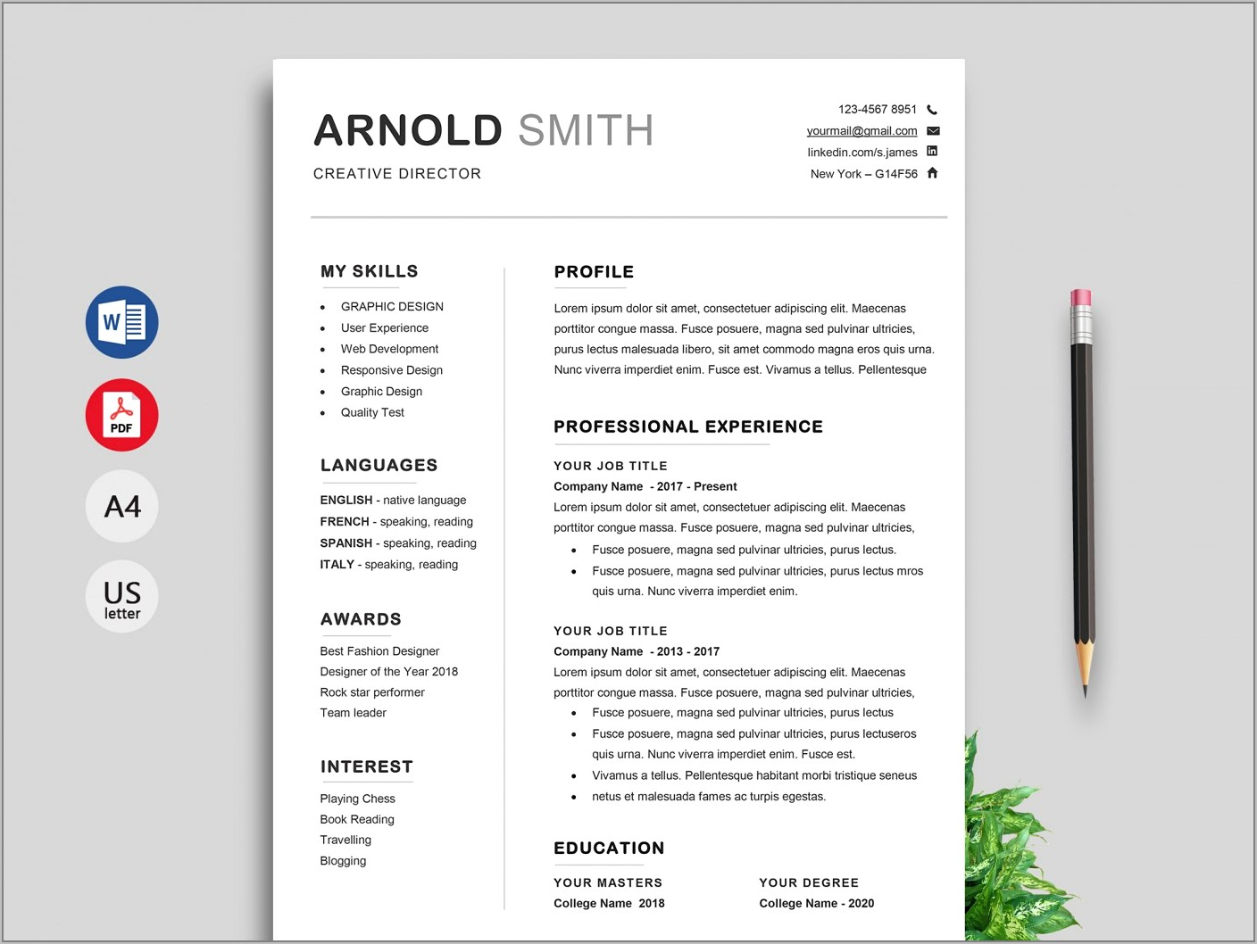 Resume Templates Word Download Free