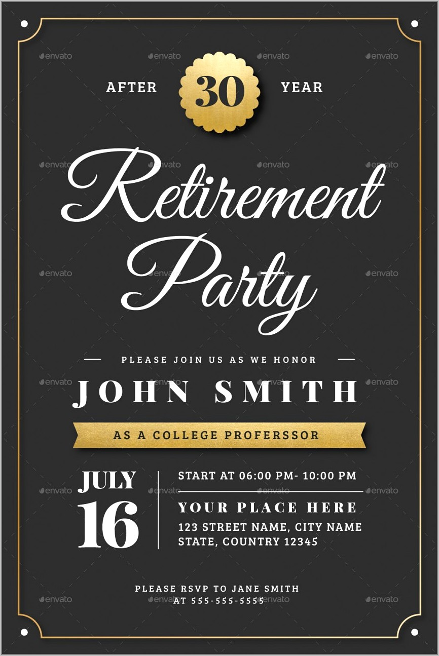 Retirement Flyer Template Word Free